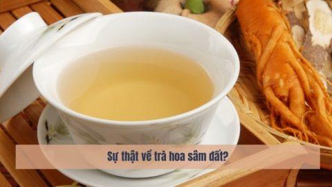 Sự thật về trà hoa sâm đất? Có giảm cân như quảng cáo