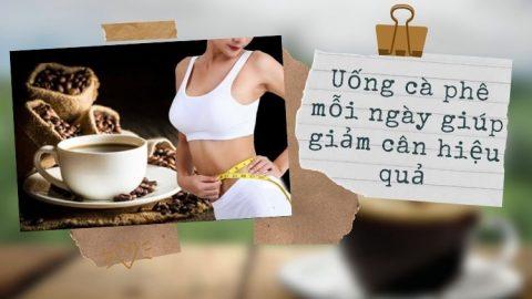 Uống cà phê giảm cân