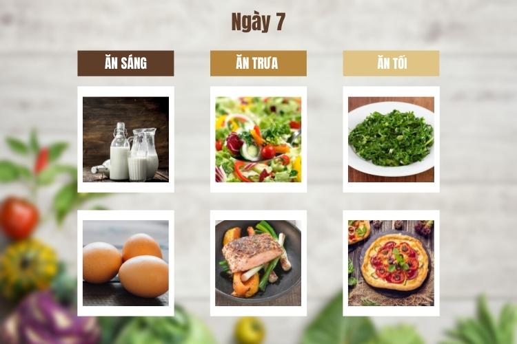 Thực đơn ăn kiêng giảm cân Keto ngày 7