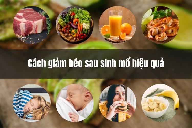 Cách giảm béo sau sinh mổ hiệu quả