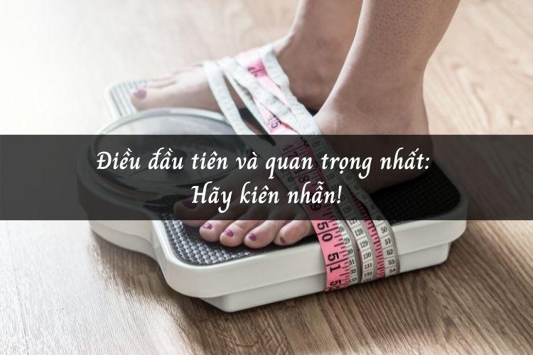 Giảm cân sau sinh là hành trình rất gian nan và mất nhiều thời gian, nên cần tính kiên trì cao