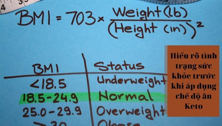 Hiểu rõ tình trạng sức khỏe trước khi áp dụng chế độ ăn Keto