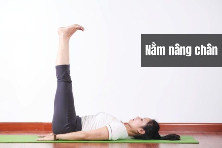 Động tác nằm nâng chân - cách nằm giảm mỡ bụng