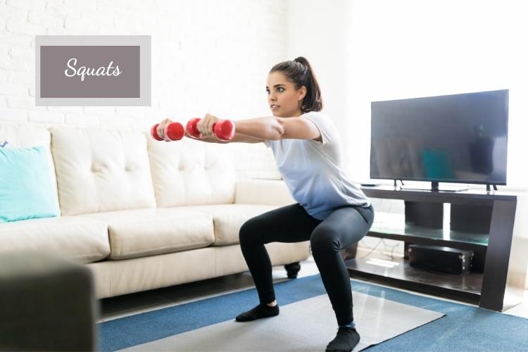 Bài tập squat - cách giảm mỡ mông trong 1 tuần hiệu quả