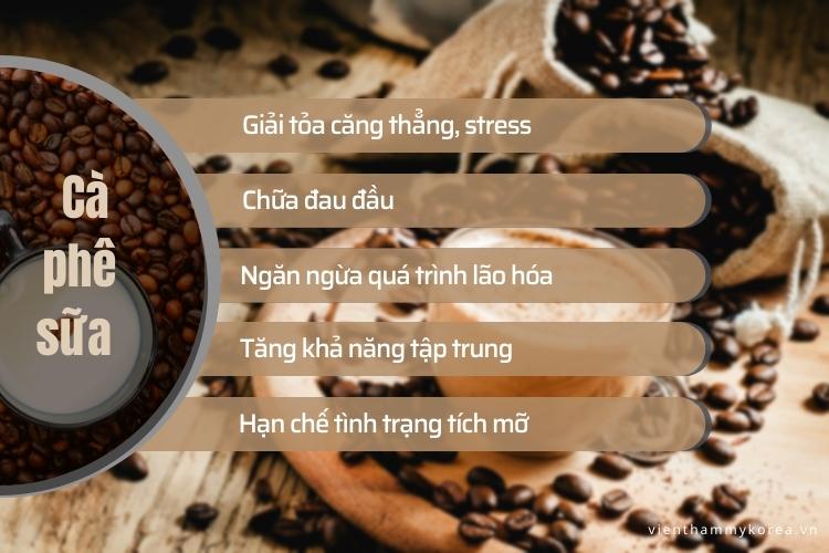 Cà phê sữa có khả năng kích thích tính tập trung, giải tỏa căng thẳng