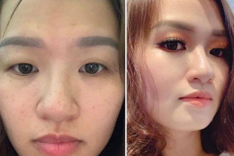 Trang điểm được xem như thủ thuật giảm mỡ nọng cằm và khuyết điểm gương mặt hiệu quả