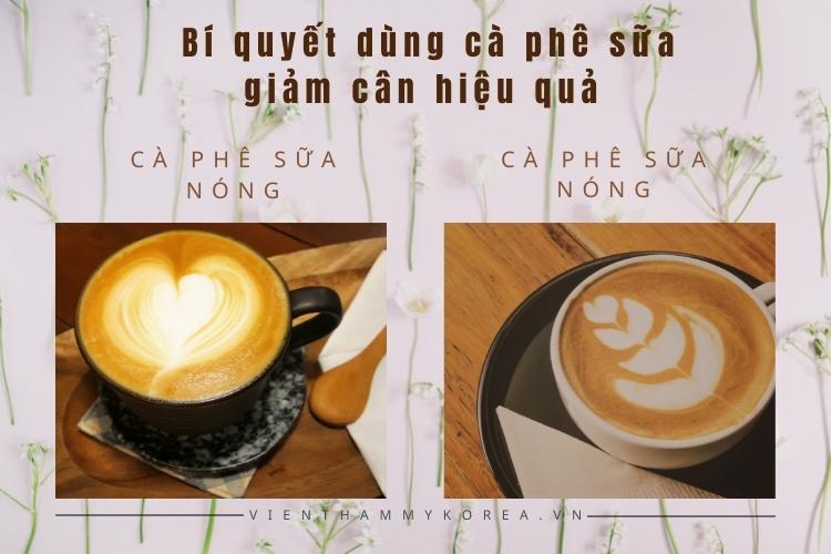 Bí quyết dùng cà phê sữa giảm cân hiệu quả