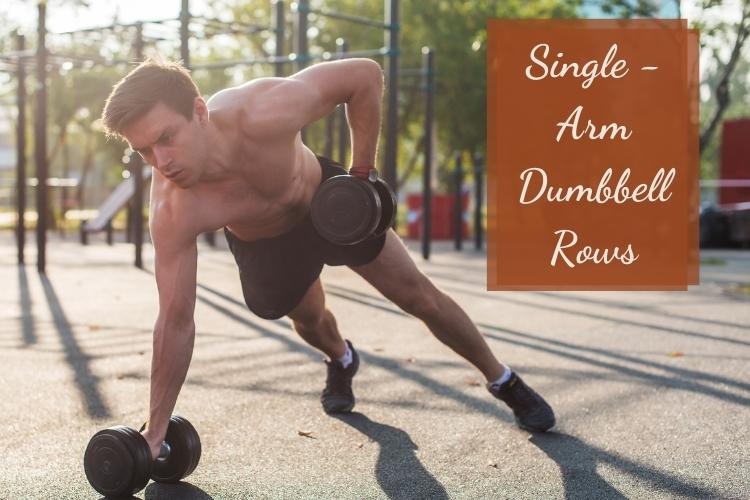 Bài tập giảm mỡ lưng vai Single Arm Dumbbell Rows