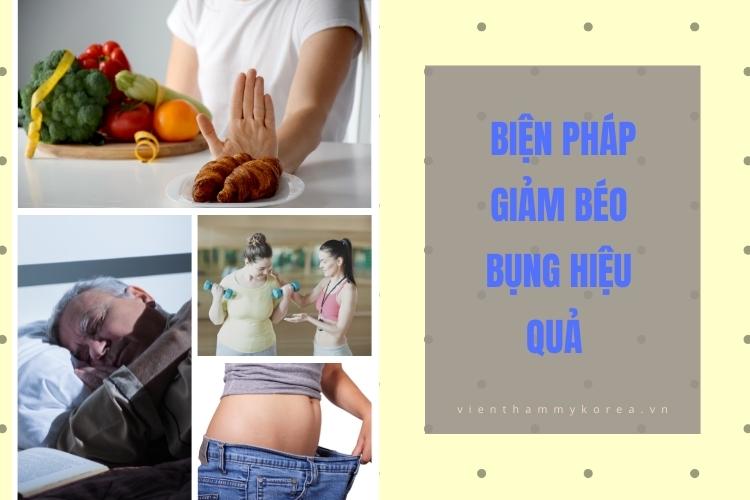 biện pháp cải thiện béo bụng