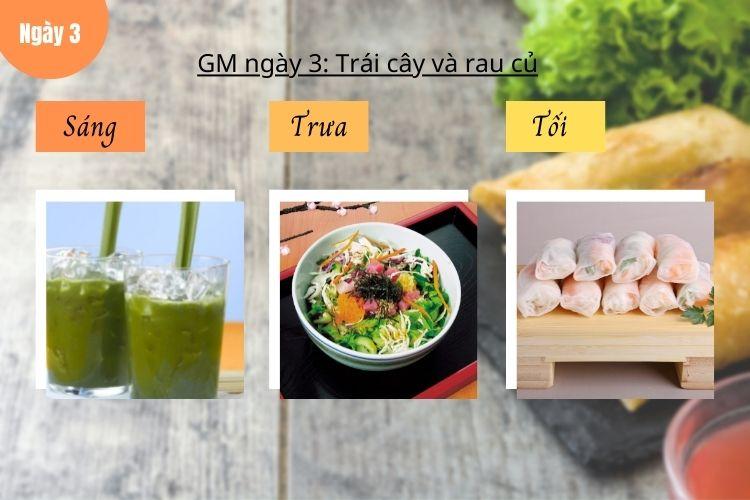 Thực đơn GM 10 ngày siêu tiết kiệm - Ngày 3