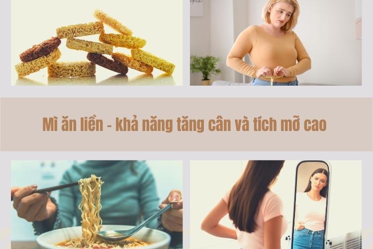 Ăn quá nhiều mì ăn liền làm tăng nguy cơ tích mỡ, gây béo phì