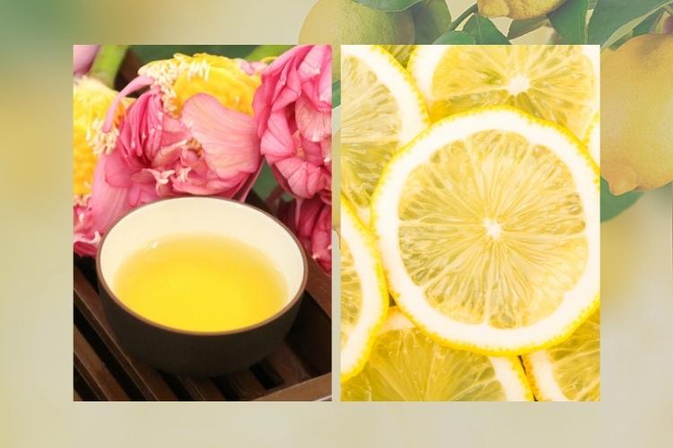 Hãy thử công thức giảm cân bằng trà lá sen và chanh nhé