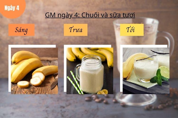 Thực đơn GM 10 ngày siêu tiết kiệm - Ngày 4