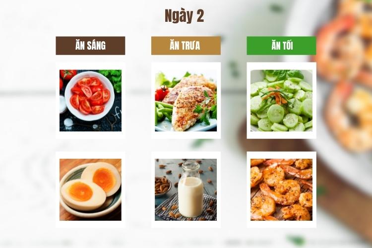 Thực đơn ăn kiêng giảm cân Keto ngày 2