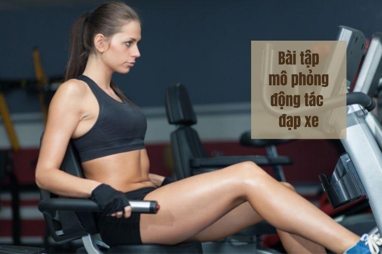 Động tác mô phỏng đạp xe tác động mạnh vùng cơ bụng, eo giúp tiêu mỡ hiệu quả