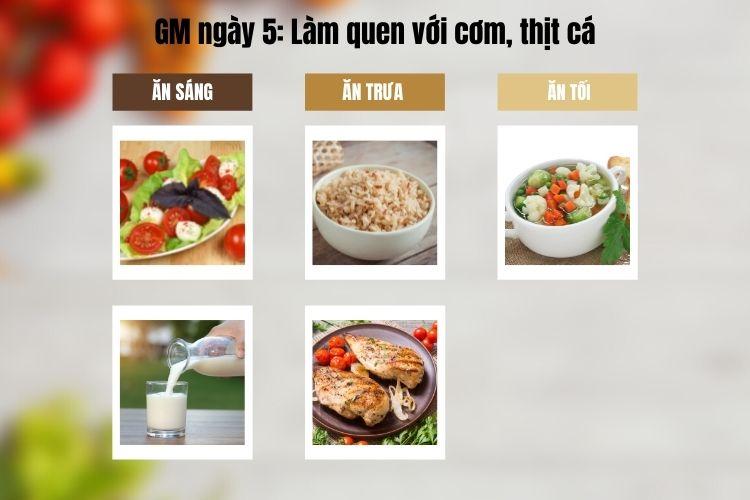 Thực đơn GM 10 ngày siêu tiết kiệm - Ngày 5