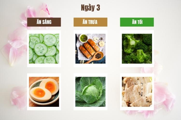 Thực đơn ăn kiêng giảm cân Keto ngày 3