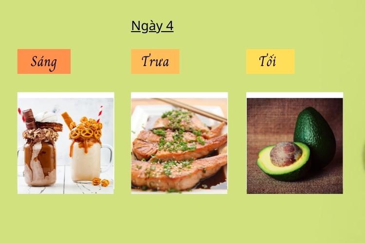 Thực đơn ăn kiêng giảm cân Keto ngày 4