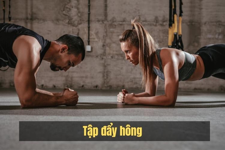 Tập đẩu hông giúp giảm béo mông và làm săn chắc vòng 3