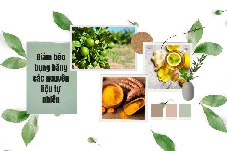 Sử dụng các nguyên liệu có sẵn từ thiên nhiên giúp đánh tan mỡ bụng, cải thiện vóc dáng
