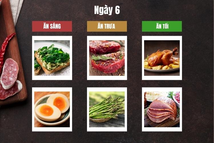 Thực đơn ăn kiêng giảm cân Keto ngày 6