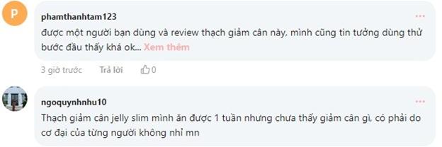 Review thạch giảm cân Jelly Slim từ khách hàng trên webtretho